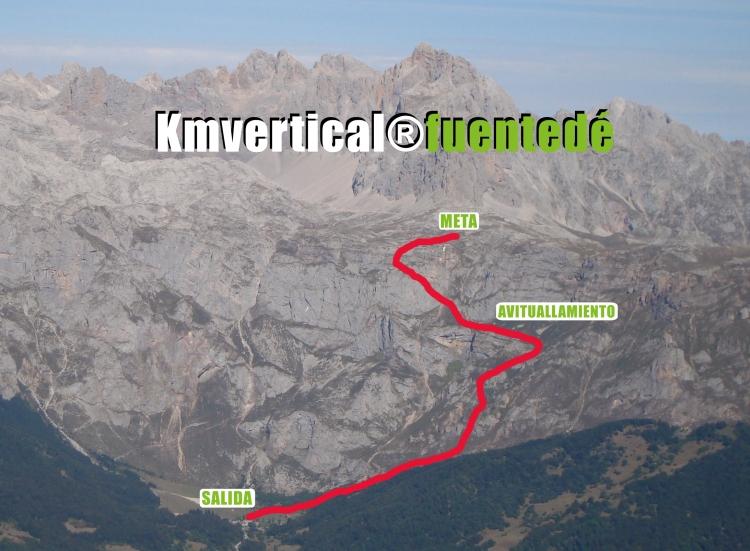 El nuevo trayecto, en foto de la web oficial del Km. Vertical Fuente Dé. Pulse para verlo más grande