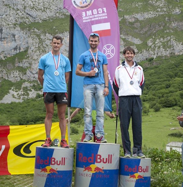 Podio masculino del Km Vertical 2011