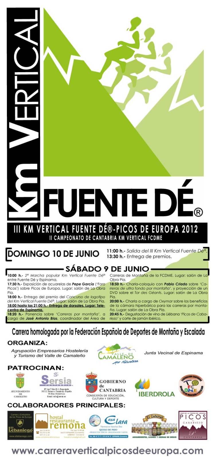 Cartel Km Vertical Fuente Dé® 2012