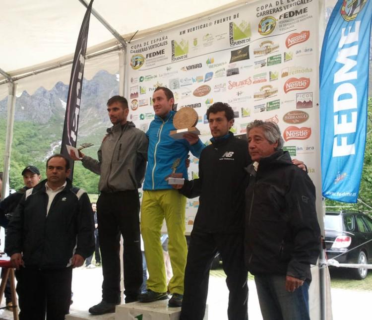 Podio masculino km vertical fuente de 2013