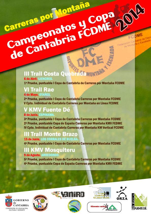 cartel Copa y Campeonatos CXM FCDME2014
