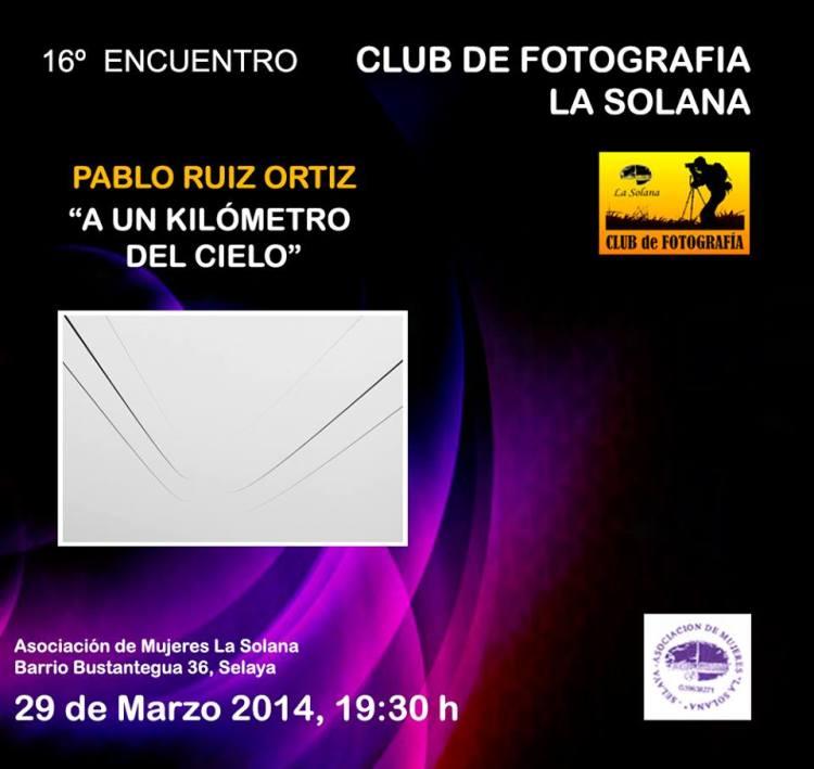 Cartel exposición Pablo Ruiz