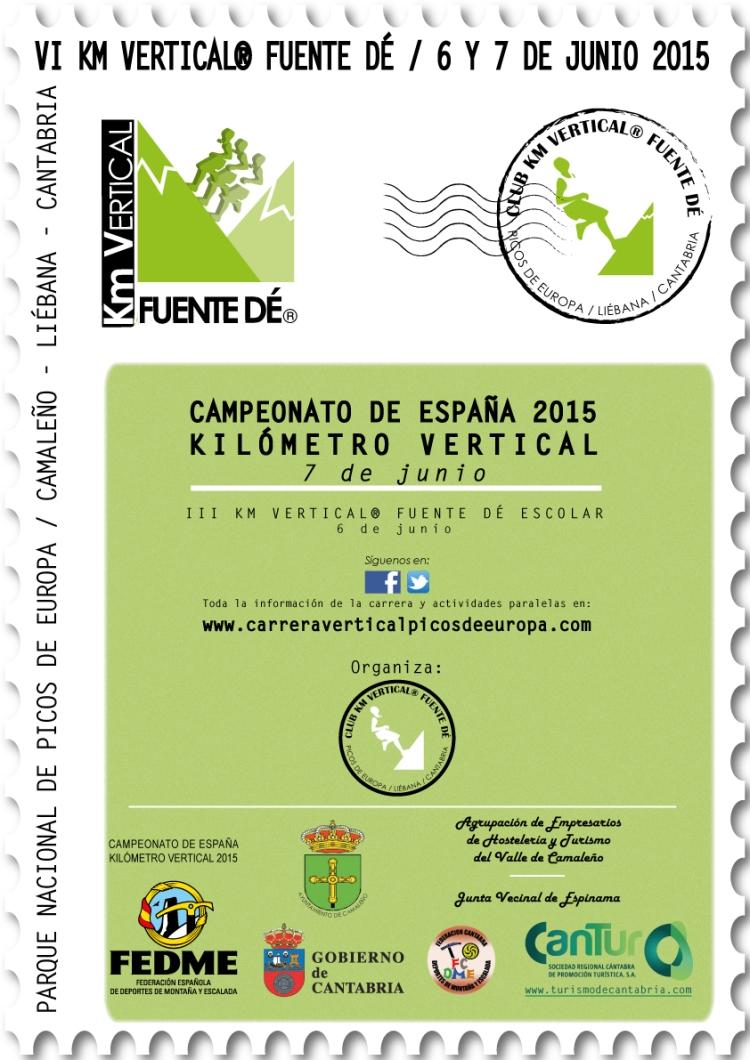 Cartel VI Km Vertical® Fuente Dé 2015