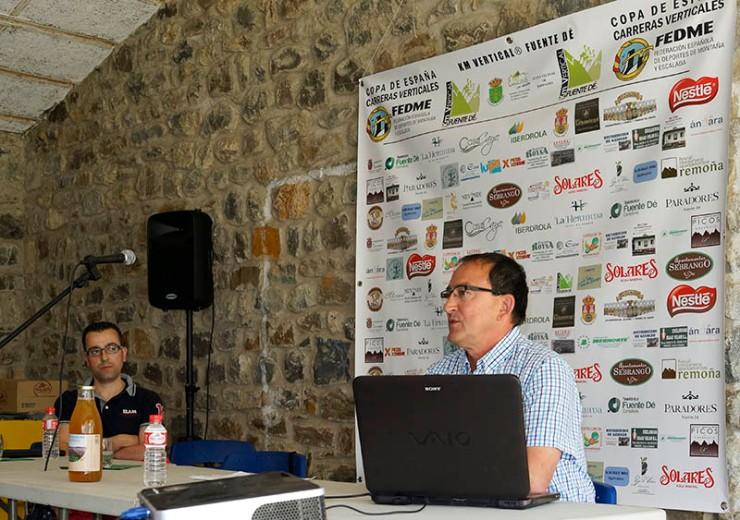 Juan Carlos Llamas y Francisco Arcilla en Km Vertical® Fuente Dé 2014