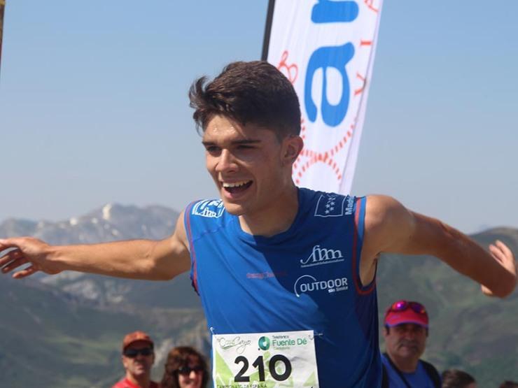 Antonio Alcalde, campeón de España junior en Fuente Dé
