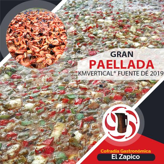Gran Paellada por la Cofradía Gastronómica EL ZAPICO en el kmvertical fuente de 2019